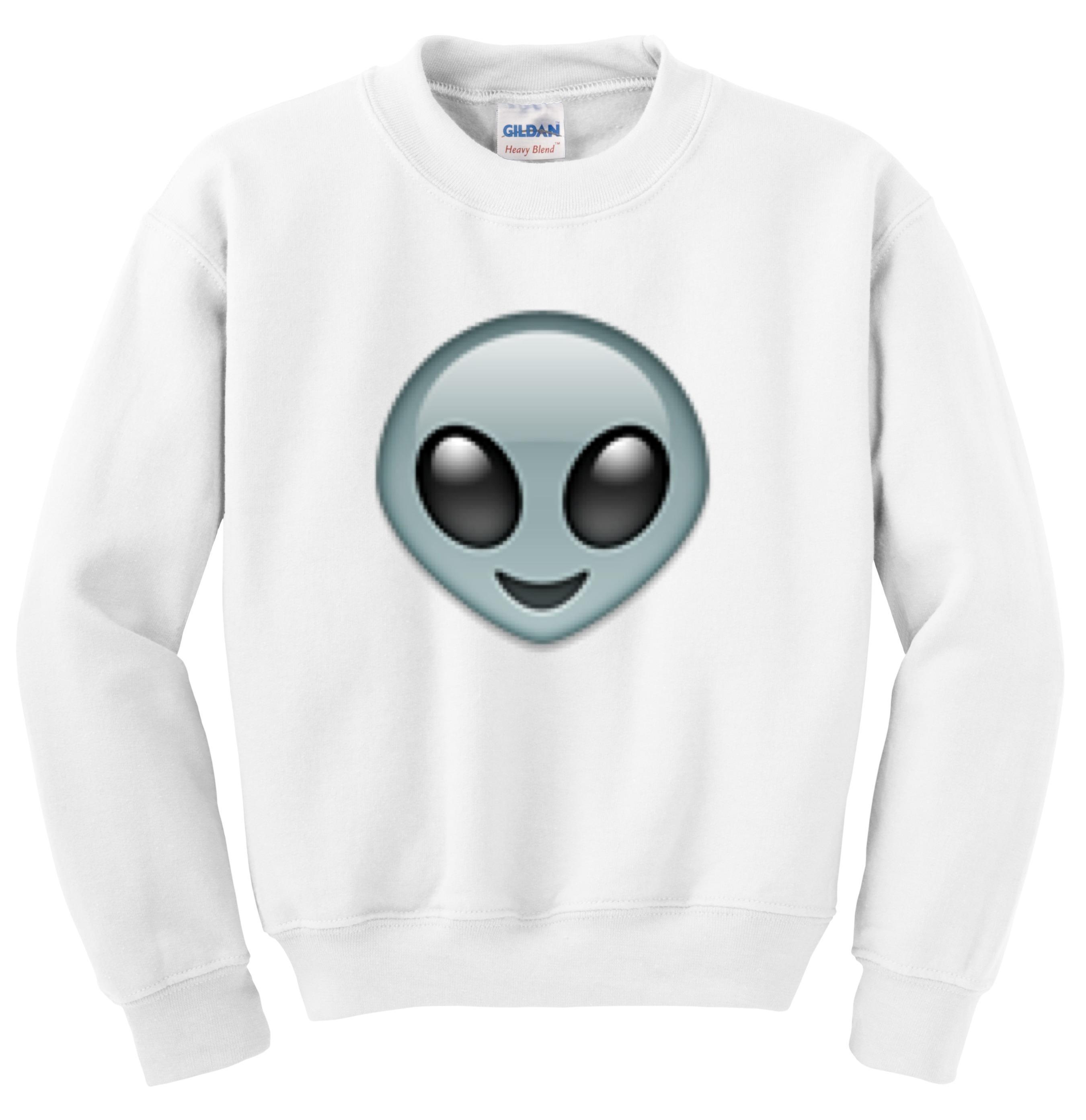 alien emoji crewneck