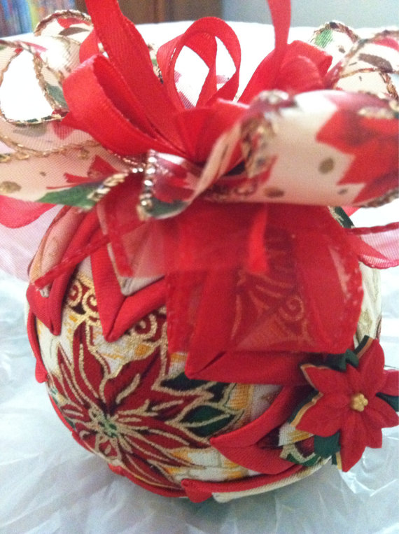 Poinsettia Quilted Christmas Ornament From Ncgal Creations