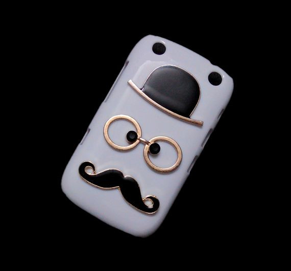 newest 1eb53 a3928 Back Hard Case For BlackBerry Curve 9320, Unique Fashion Beard Mustache  Designed White Chaplin Show Cover from Awesomecase