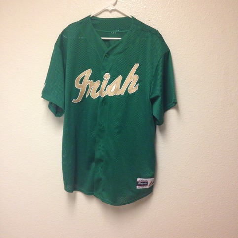 sports shoes dbd0f 835e1 Notre Dame Fighting Irish Baseball Jersey Large sold by Kings Court Vintage