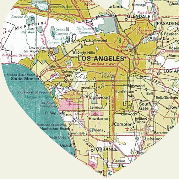 photo about Printable Maps of Los Angeles referred to as Los Angeles Artwork Metropolis Centre Map - 8x10 Artwork Print versus LuciusArt