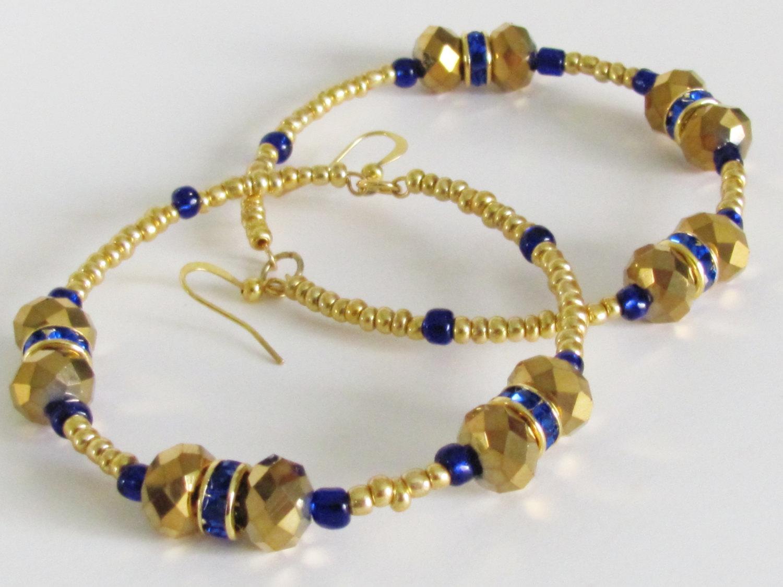 Basketball Wives Earrings Gold Earrings Blue Earrings Summer Trend Cobalt Earrings  Women Jewelry Gold Hoop Earrings 4bcd0b0763