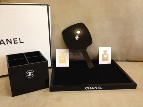 Set Of 3 Chanel Limited Edition Vip Gift Mirror Pen Holder