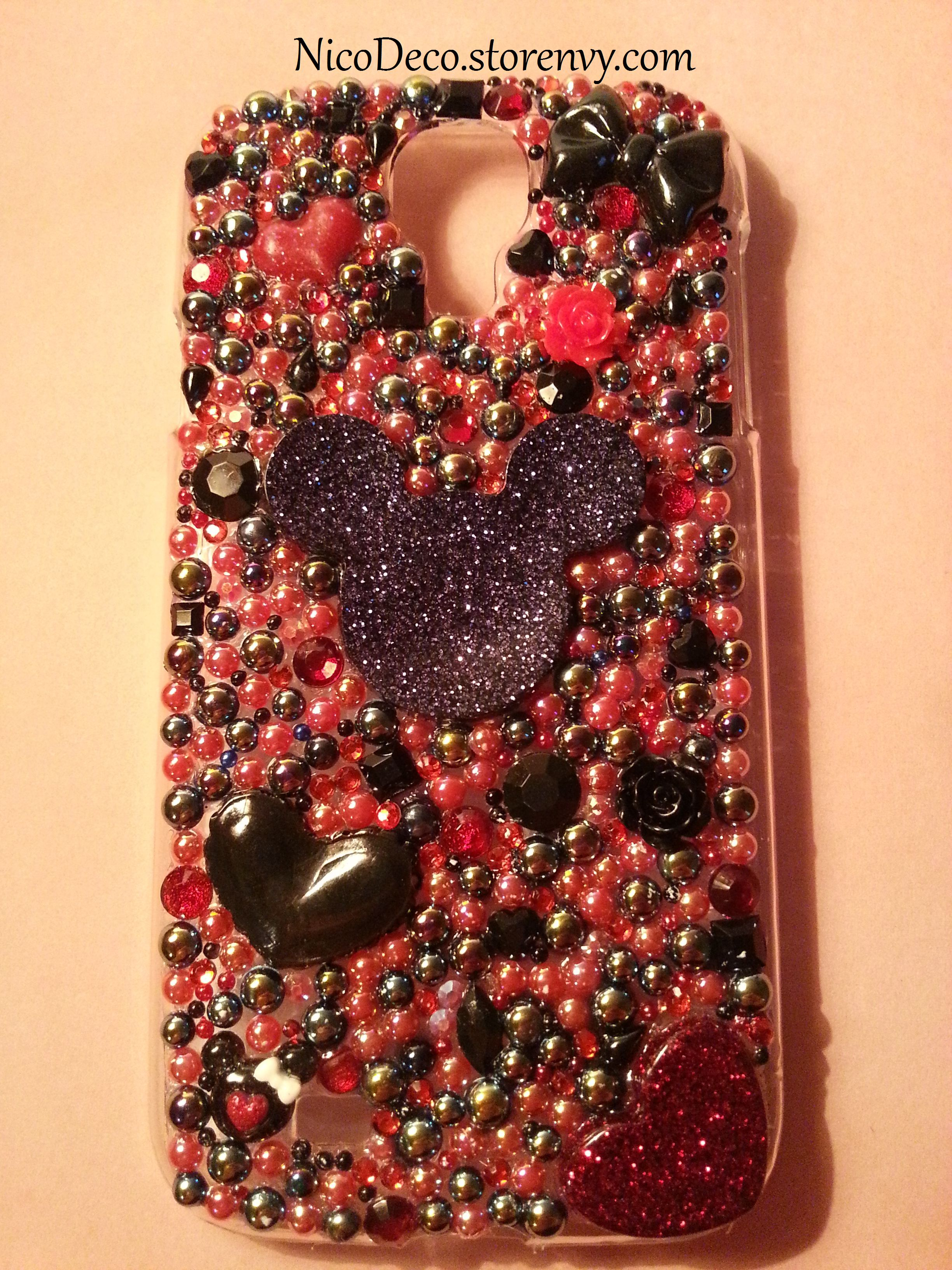 sports shoes 76835 7a381 Handmade Mickey Mouse Disney samsung Galaxy s4 bling decoden phone case  from Nico Deco