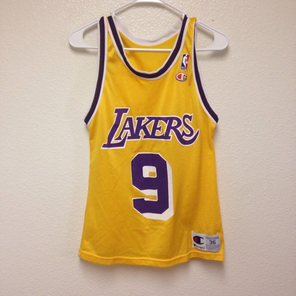 Nick Van Exel Lakers Champion Jersey 36 · Kings Court Vintage ...