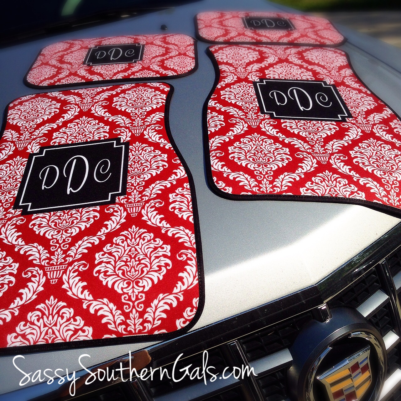 Monogrammed Car Mats / Personalized Car Mats, Complete Set