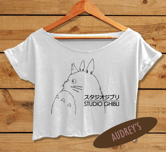 3c74eb43cde Studio Ghibli shirt Totoro anime women crop top crop tee all size ...