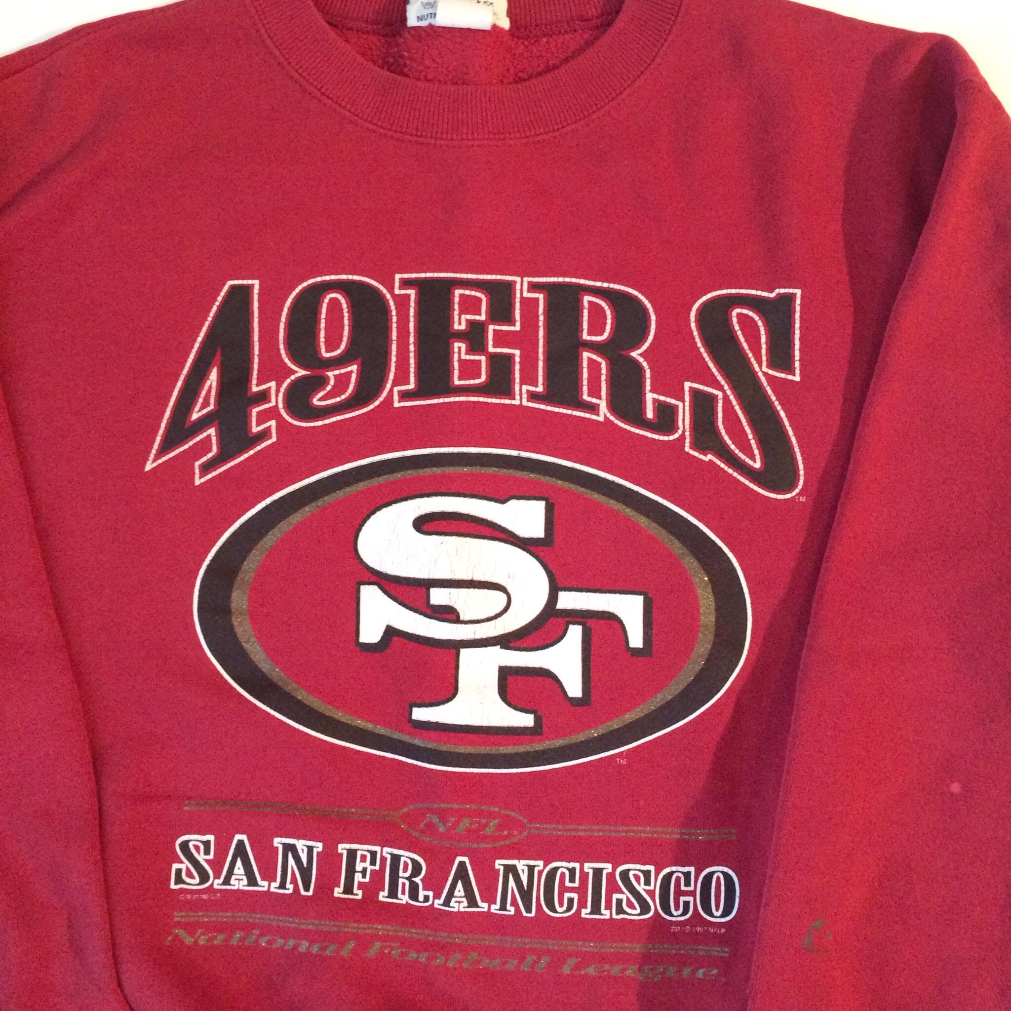 the latest 41c1e 0be00 Vintage Gold Glitter San Francisco 49ers Sweatshirt on Storenvy
