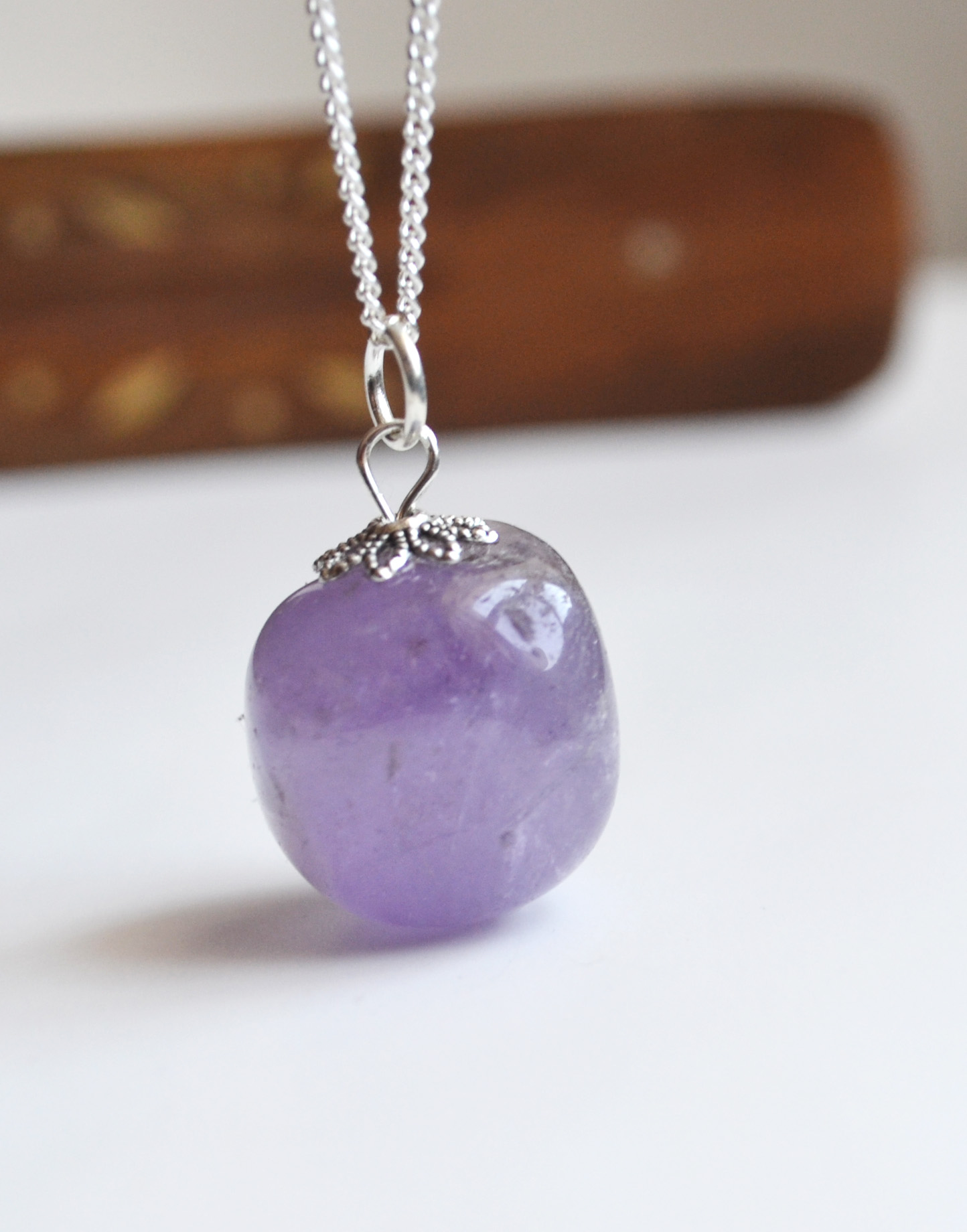 stones for jewelry amethyst necklace purple healing stones amethyst 1962