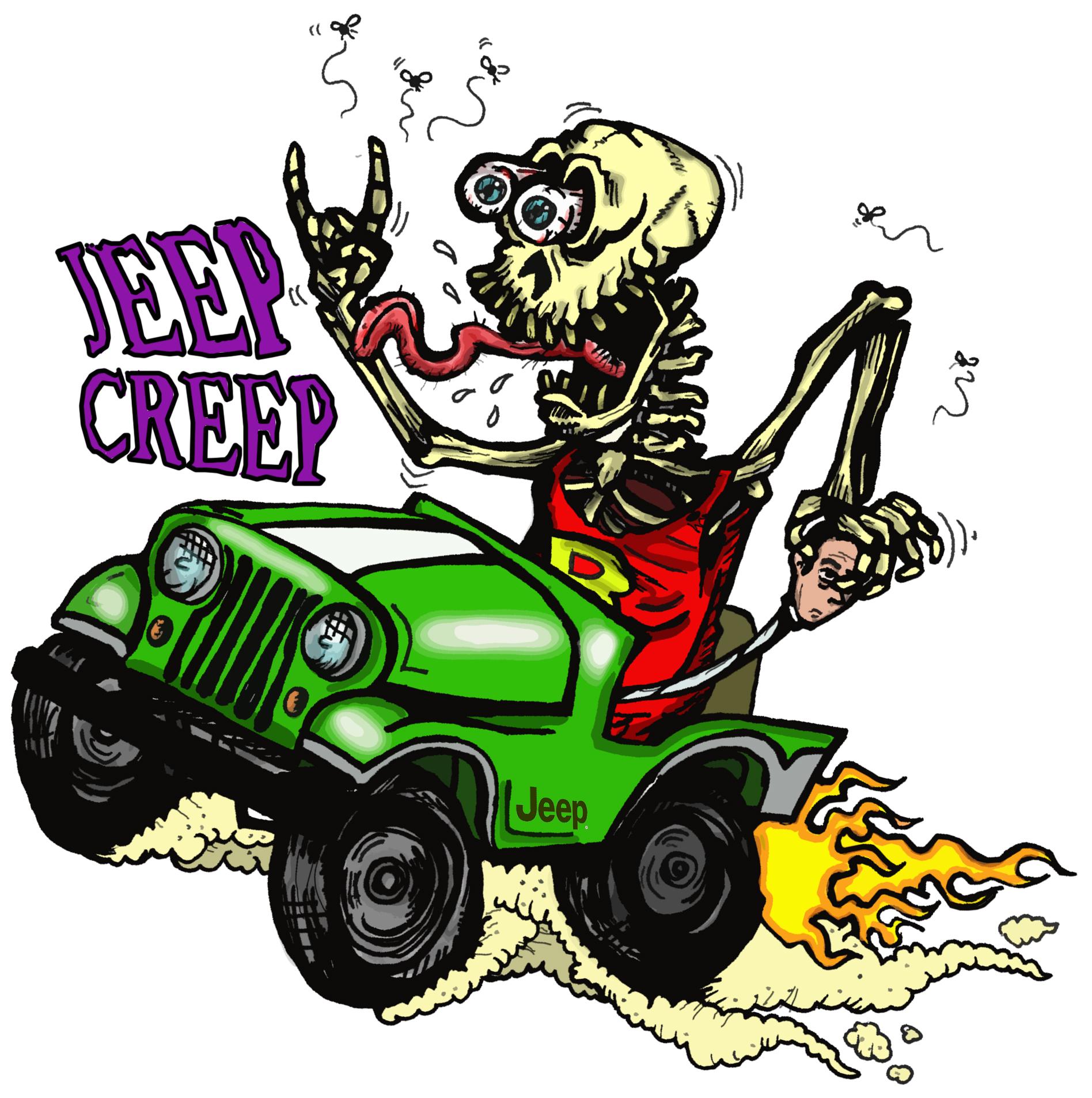 Jeep Creep Quot Rat Fink Style Quot 4 Quot X 4 Quot Die Cut Sticker