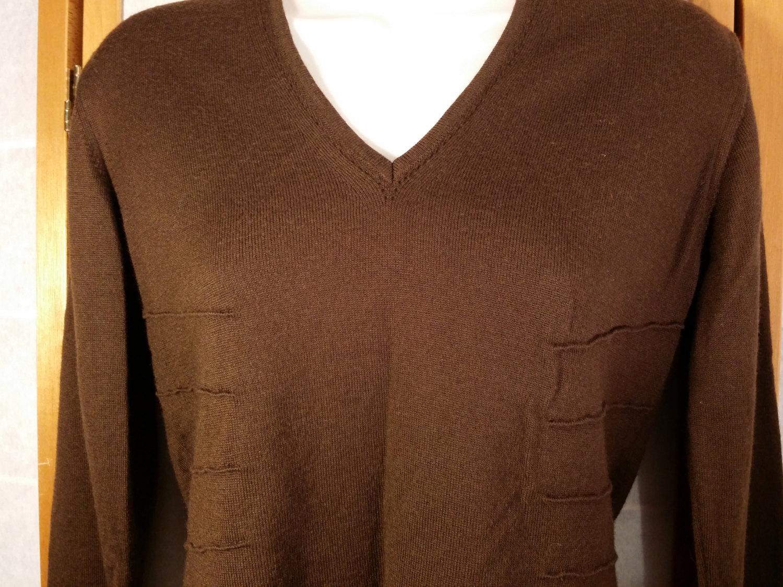Vintage CLORINDA Italian Merino Wool Blend chocolate Brown Sweater ...
