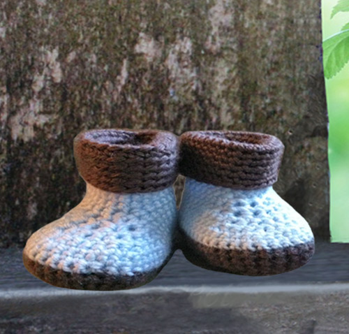 4e8a6c7f051c8 Blue and Brown Crochet Baby, Crochet Baby Shoes, Crochet Baby Booties,  Crochet Baby Sandals from SCG Designs