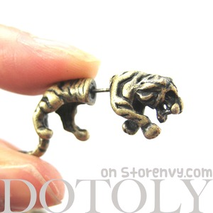 55637807d Earrings :: Fake Gauges · DOTOLY Animal Jewelry · The Animal Wrap ...
