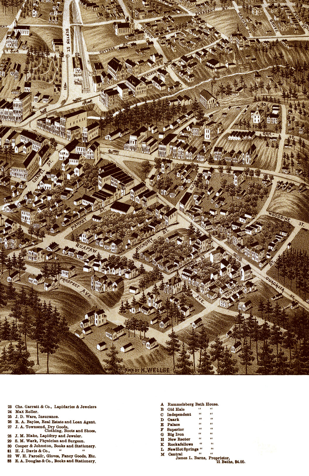 Hot Springs AR in 1888 - Bird's Eye View Map, Aerial map, Panorama, on map of arkansas beebe, map of arkansas ozarks, map of arkansas boone county, map of arkansas berryville, map of arkansas little rock, map of arkansas conway, map of arkansas hope, map of arkansas lakes, map of arkansas harrison, map of arkansas searcy, map of arkansas mountain view, map of arkansas louisiana, map of arkansas paragould, map of arkansas with rivers, map of arkansas national forests, map of arkansas state parks, map of arkansas texas, map of arkansas murfreesboro, map of arkansas mountain pine, map of arkansas russellville,
