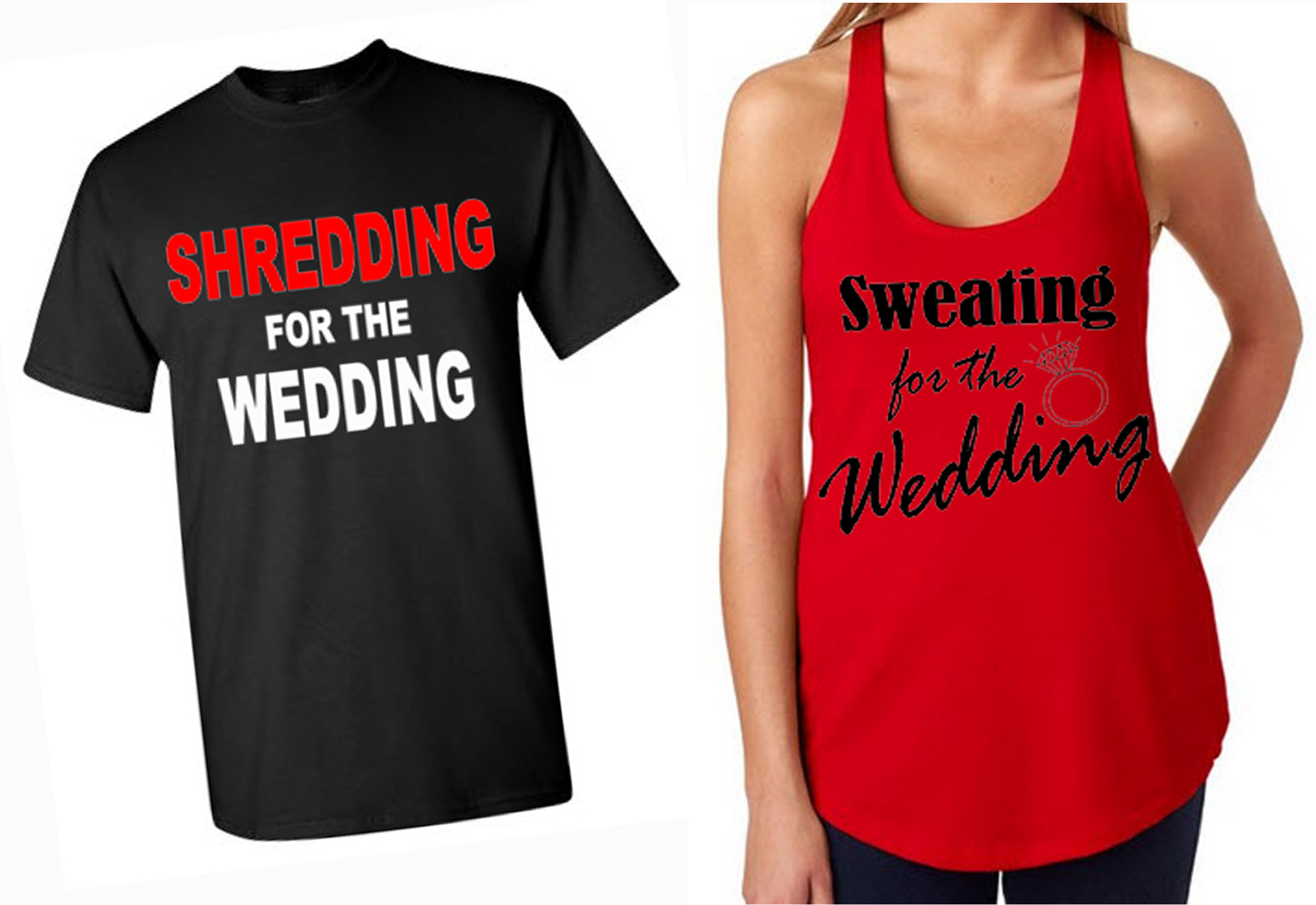 Sweatingshredding For The Wedding Tank T Shirt Set On Storenvy
