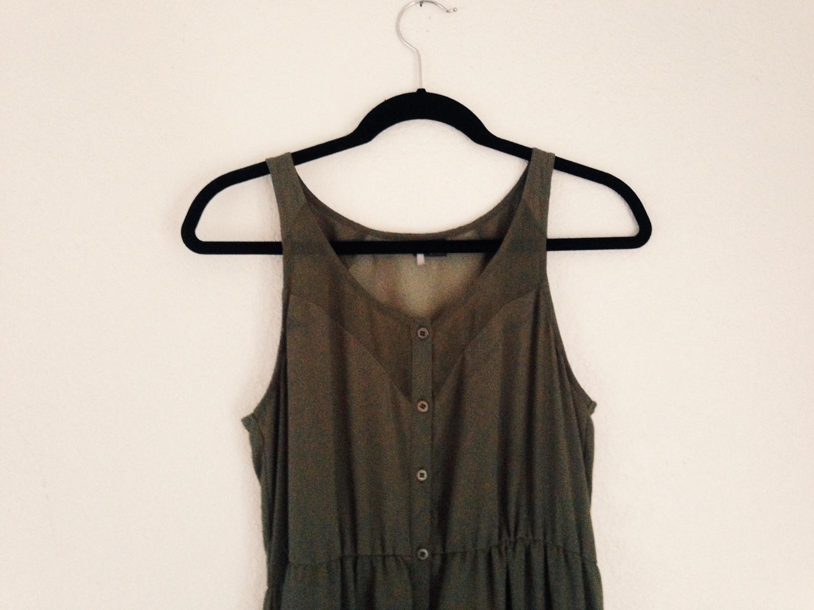 7d5e6304bb808 Olive green Maxi dress by H M · Lady Fox Stuff · Online Store ...