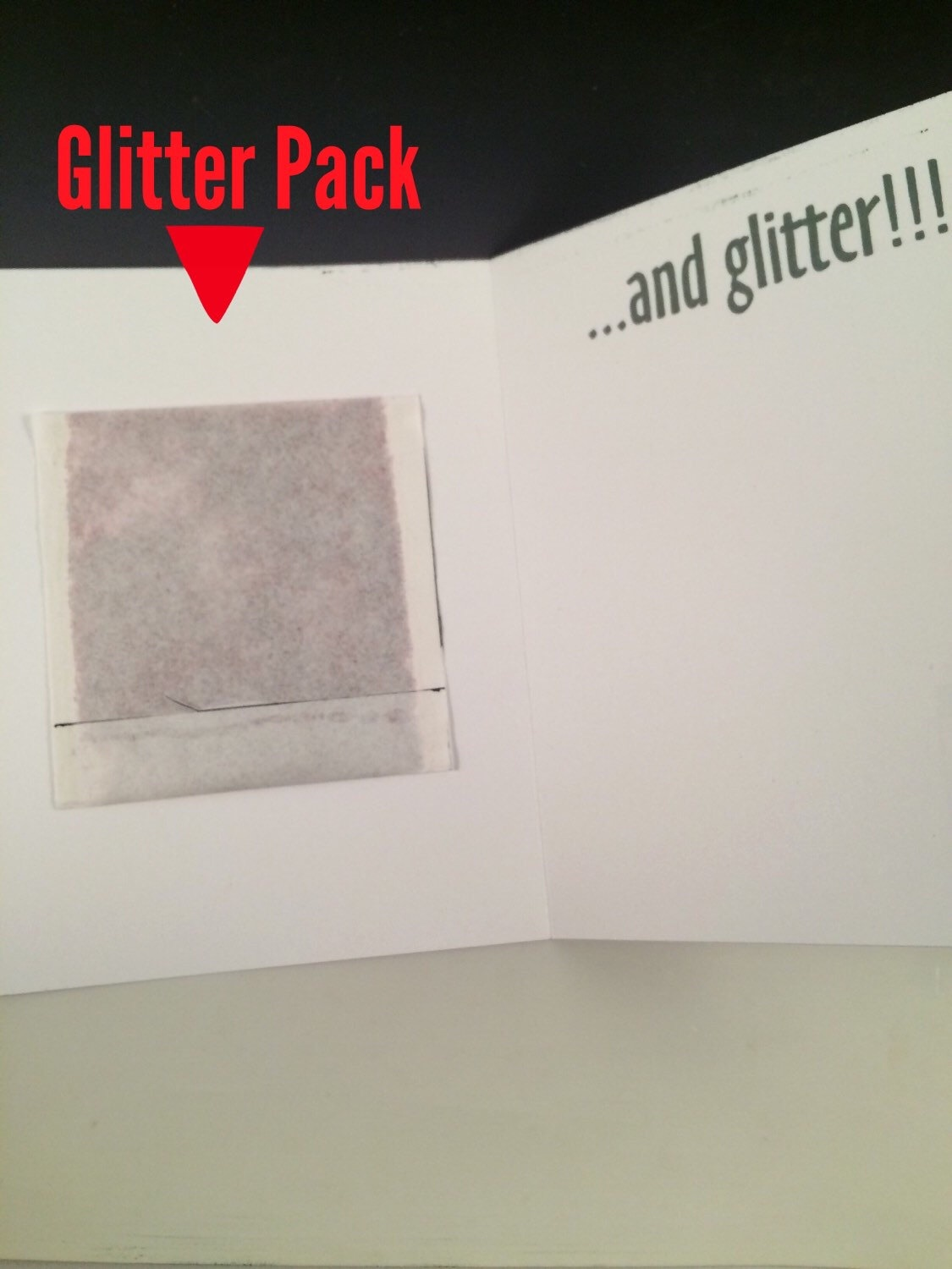 Glitter Bomb Greeting Card