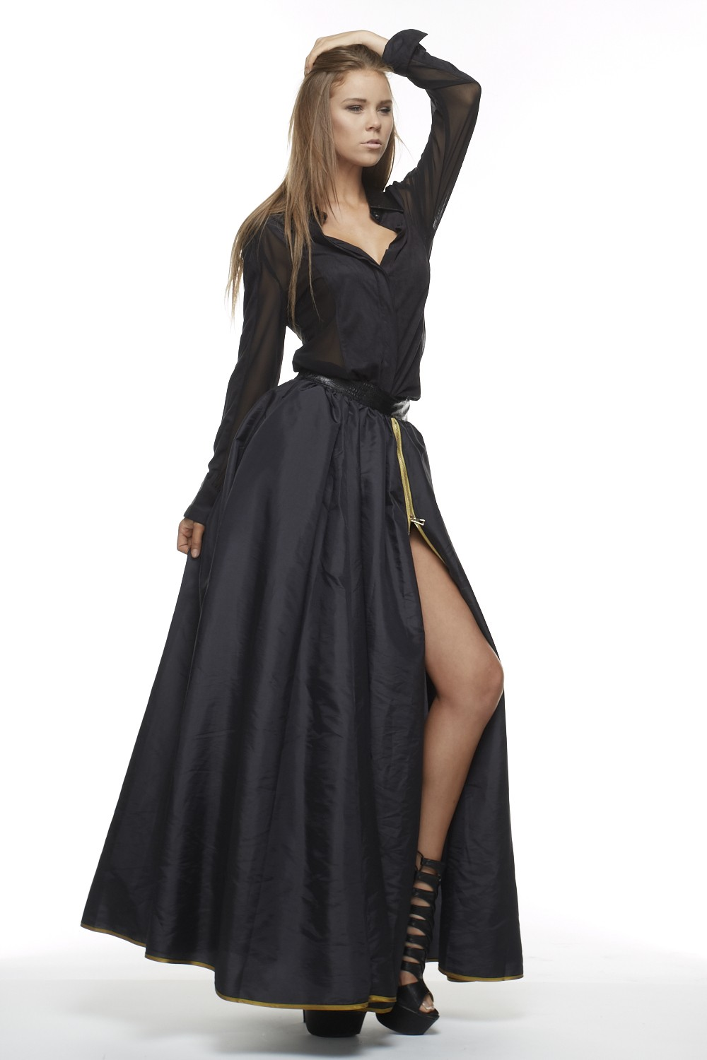 Black Widow Maxi Skirt sold by Stylo Clothing and Shoes
