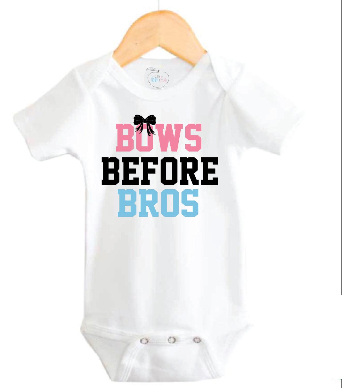 0d019c17e320a Baby Girl Onesies®, Baby Girl Onesie, Cute Baby Girl Onesie, Bows Before  Bros Baby Girl Onesie, Baby Girl Onesie