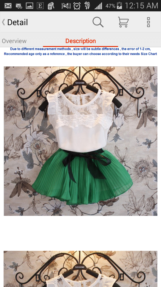 d30f56b82633 Pleated Lace 2-Piece Girls Skirt Set- Green on Storenvy