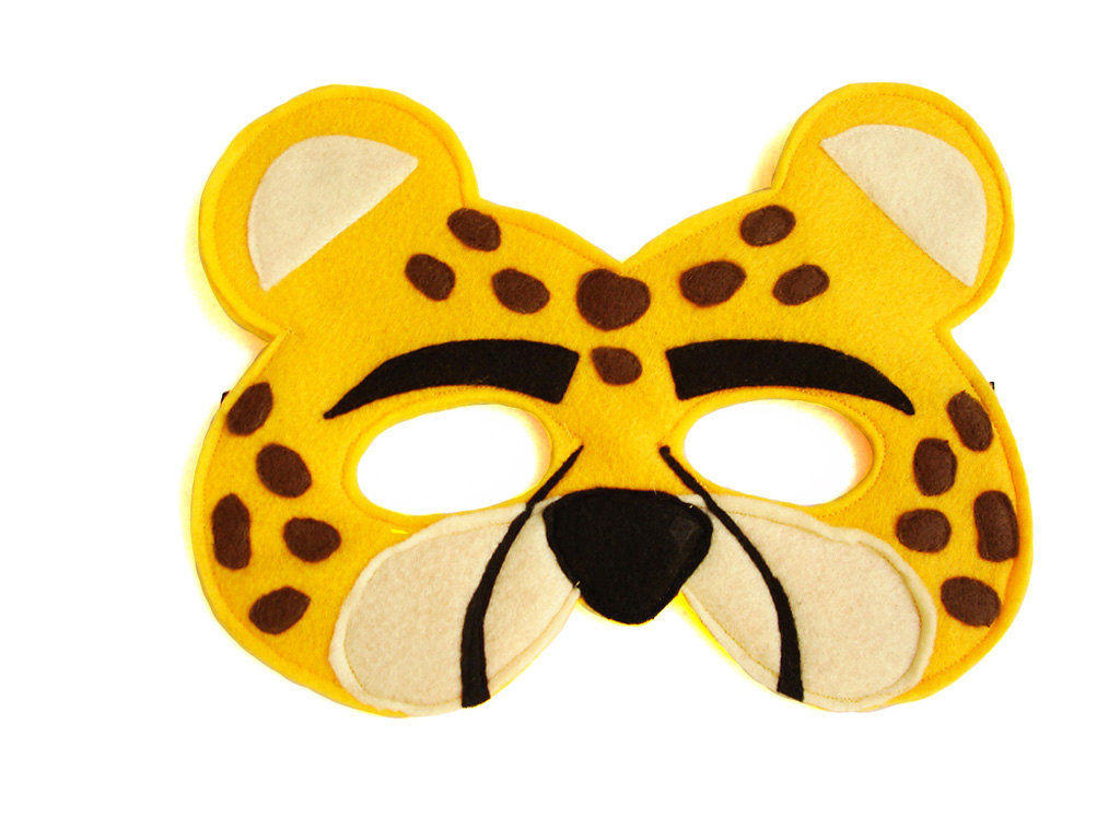 061d0fc4d Children's Safari Animal CHEETAH Felt Mask · Magical Attic · Online ...