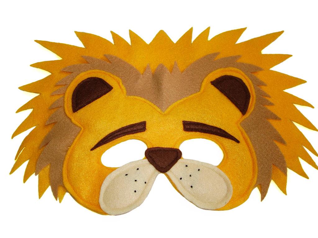 b6b83d672 Children's Safari Animal LION Felt Mask · Magical Attic · Online ...