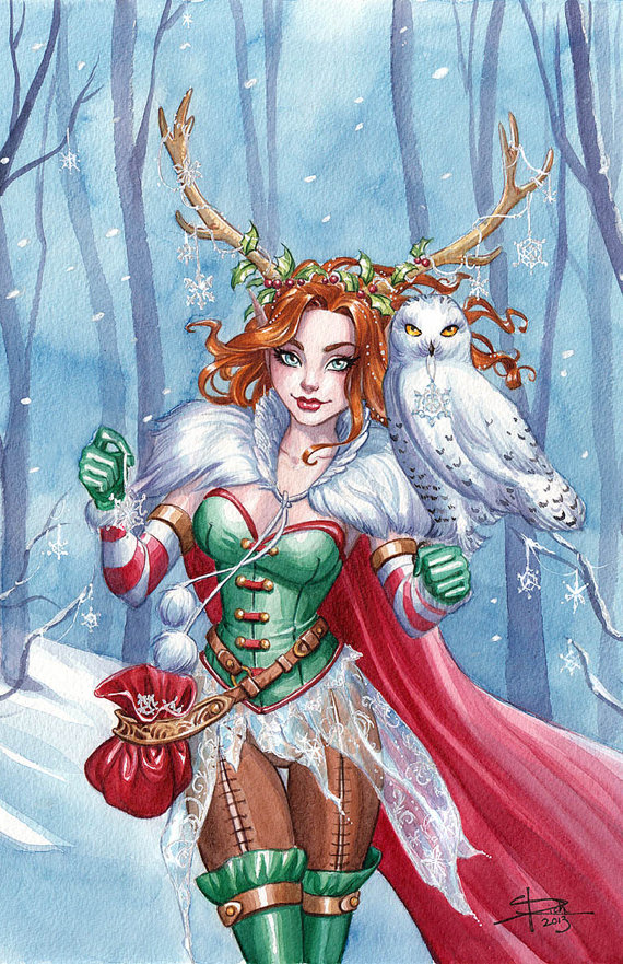 Winter Fairy Print from Sabine Rich's shop