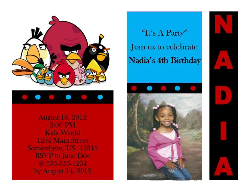 Angry Bird Birthday Invitation 1 From Southern Desktop Publishing
