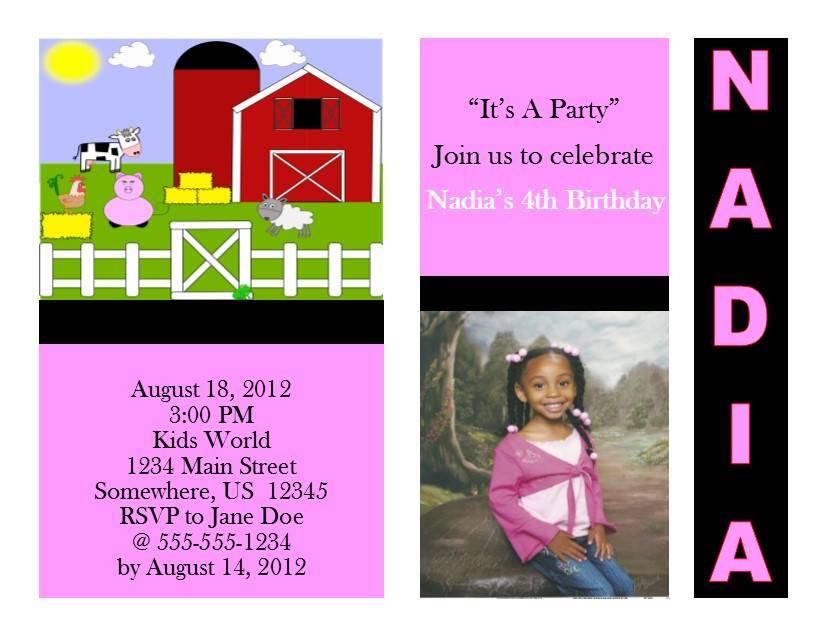 Farm Birthday Invitation 4