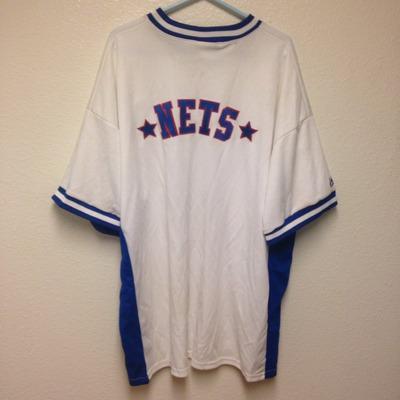 b2fb4630 Hardwood Classics New Jersey Nets Warm Up 2XL · Kings Court Vintage ...