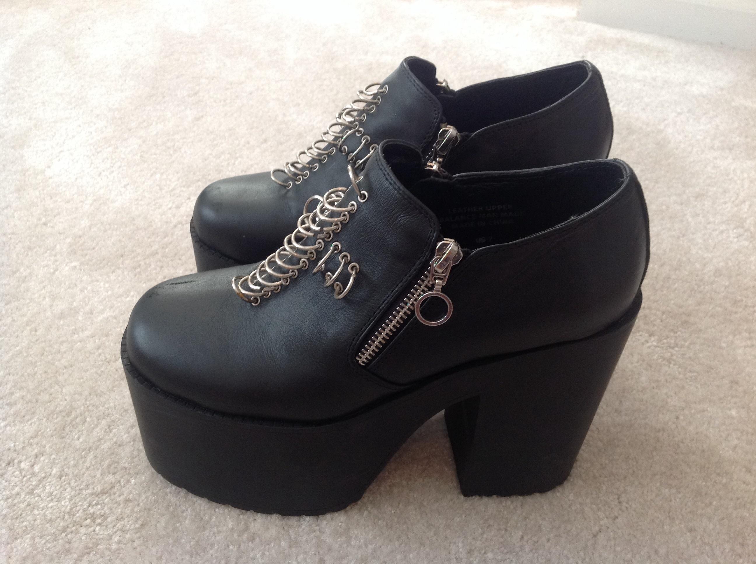 c247a00b7c2 UNIF Grail Black Leather Platform Boots Shoes on Storenvy