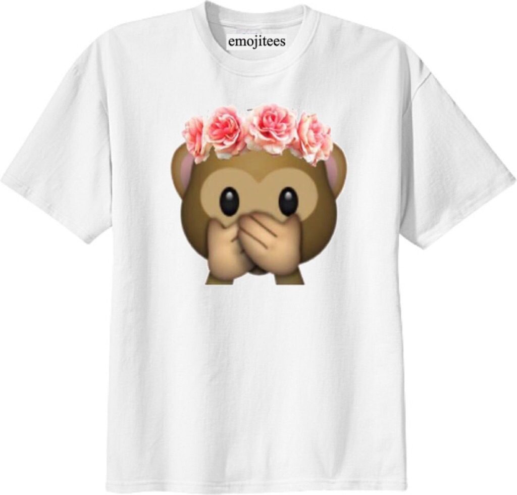Pink flower monkey emoji tee on storenvy pink flower monkey emoji tee mightylinksfo Images