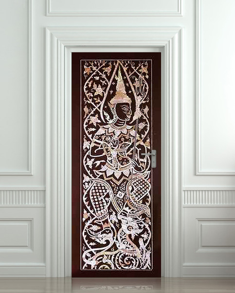 Wall Door Sticker India Man Tradition National Decole