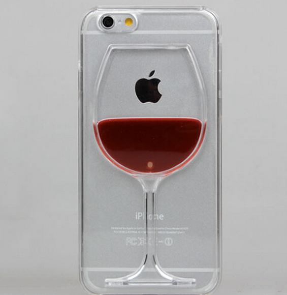 Iphone 6 Plus 6 Red Wine Glass Clear Case Or Cocktails
