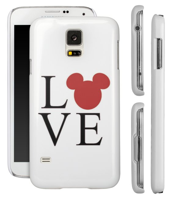 brand new 49175 59d6f I Love Heart Disney Inspired Mickey Mouse Samsung Galaxy S5 S4 S3 Phone  Case Cover from Phone Fluff