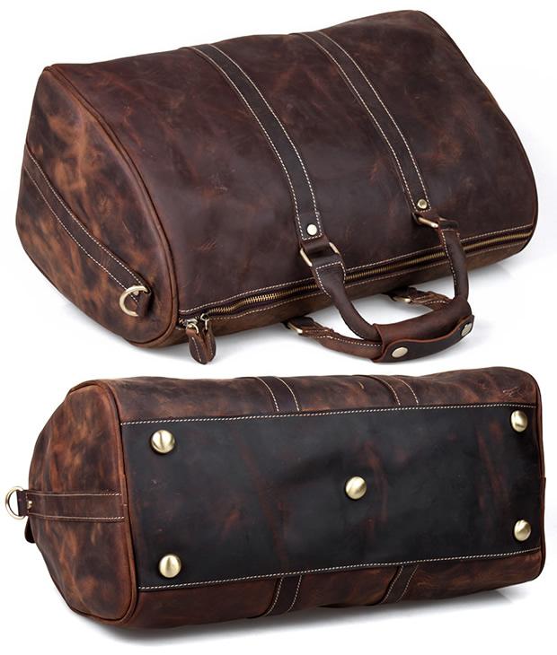 Men s Handmade Vintage Leather Travel Bag   Luggage   Duffle Bag   Sport Bag    Weekend 0eab3f707b72a