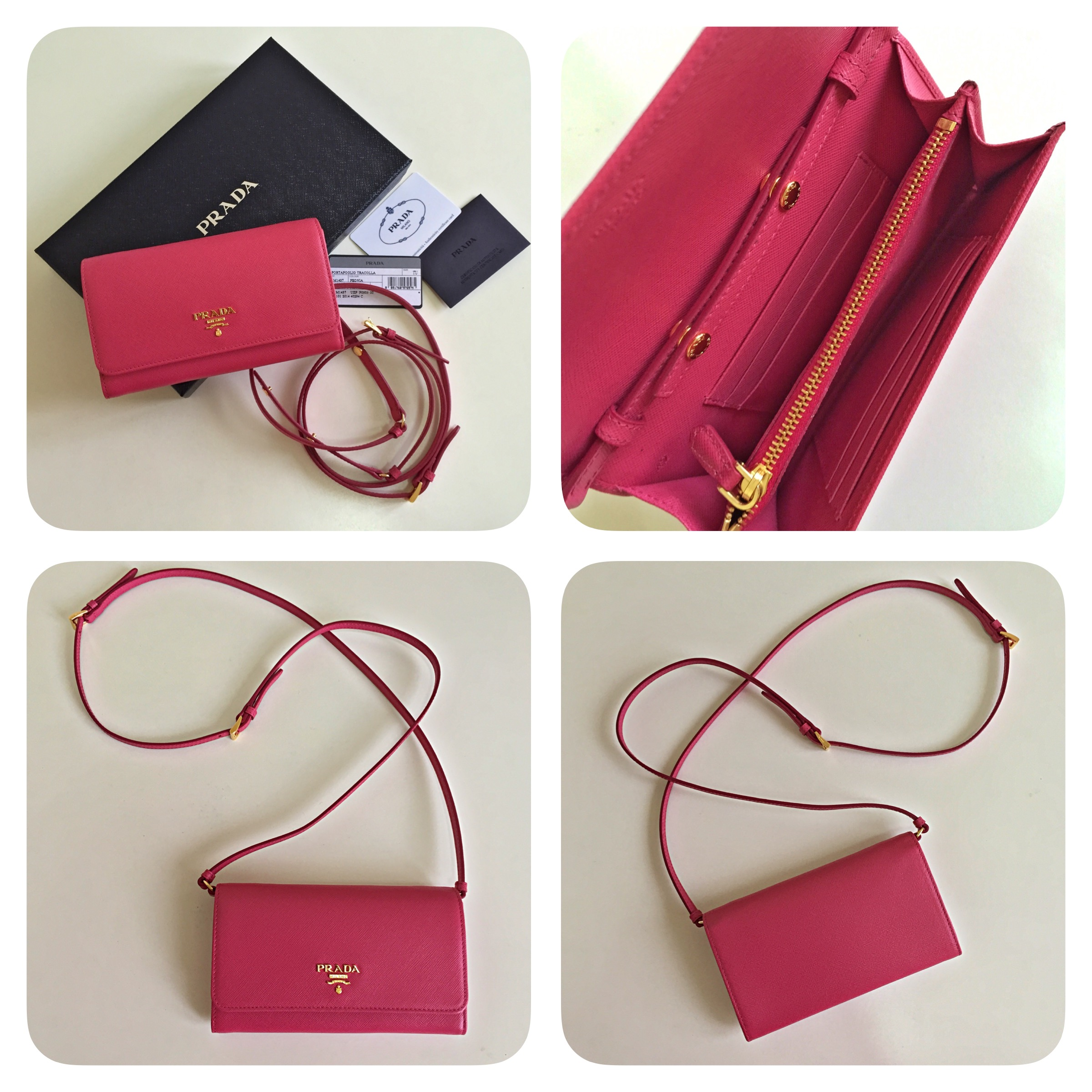 580a76c3bf ... PRADA Saffiano Metal Peonia Mini Crossbody Bag - Thumbnail 3 ...