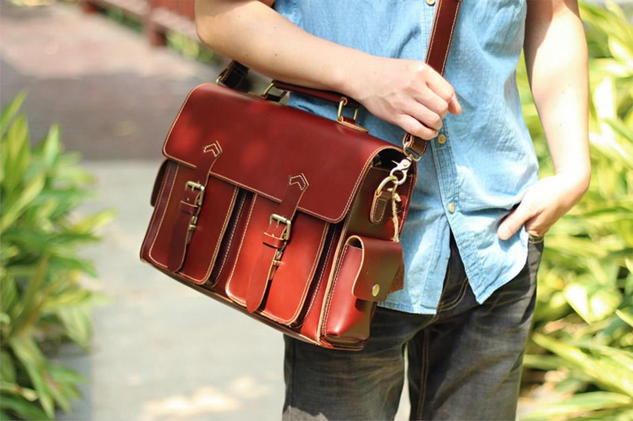77031b558 ... Handmade Leather Messenger Bag / Leather Briefcase / Leather Satchel /  13