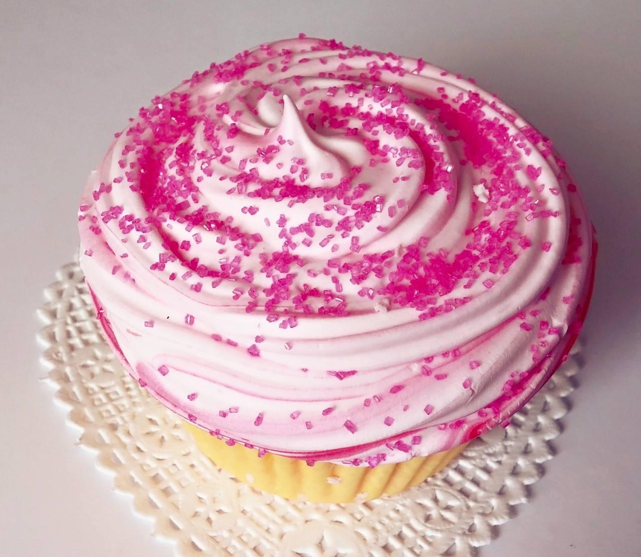 Homemade Cupcake Bath Bomb Fizzy- Pink Sugar · Vashir ...
