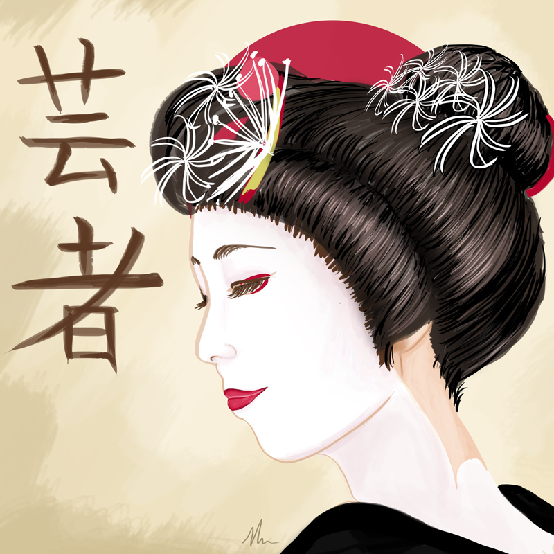 a muse in japan geisha art print nicole cleary s shop online store