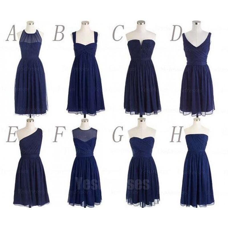 Navy Bridesmaid Dresses Short - Ocodea.com