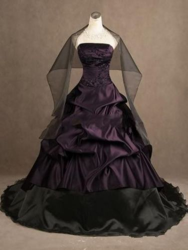 552b4d1900 Purple   Black Plus Size Wedding Dress · Curvy Brides · Online Store ...