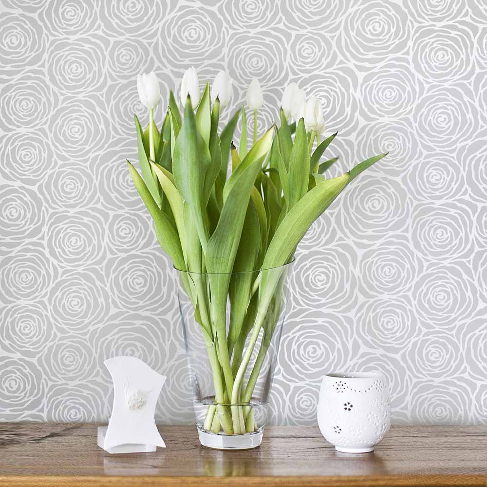 Roses Allover Stencil - Large - DIY wall design - Better ...