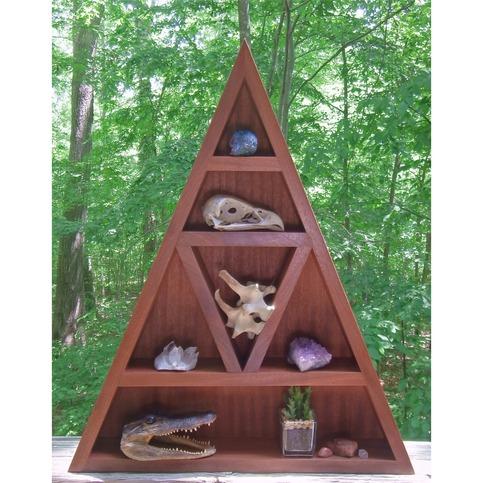 Wooden Triangle Altar Wooden Shelf Handmade Display