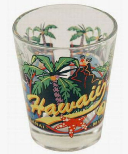 World By Shotglass Hawaii 3 View Shot Glass Free Delivery