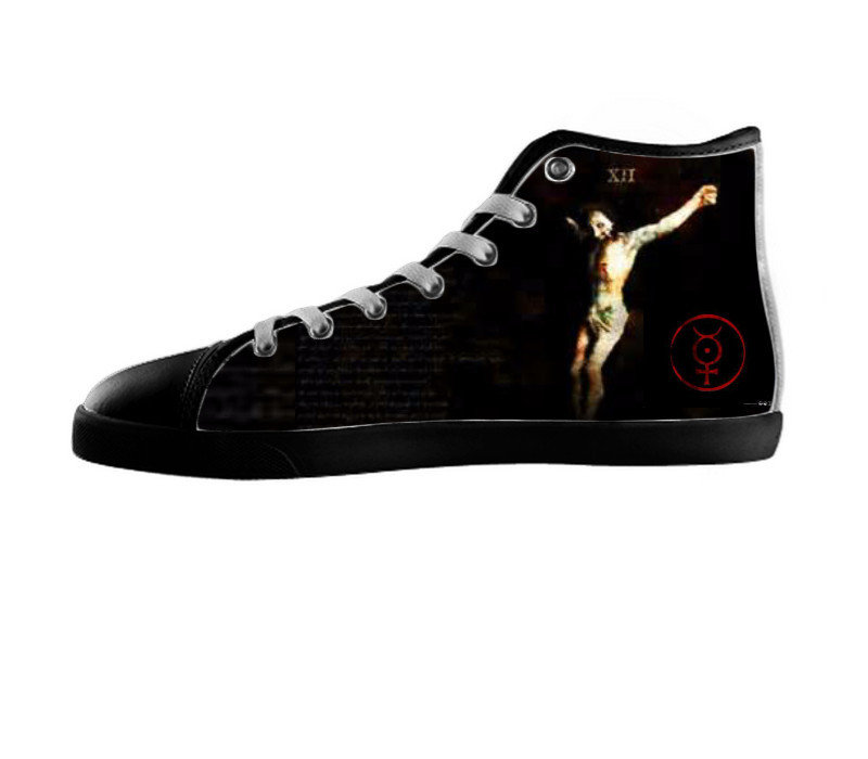 Marilyn Manson Shoes - Music Custom Canvas High Top Hi Top ...