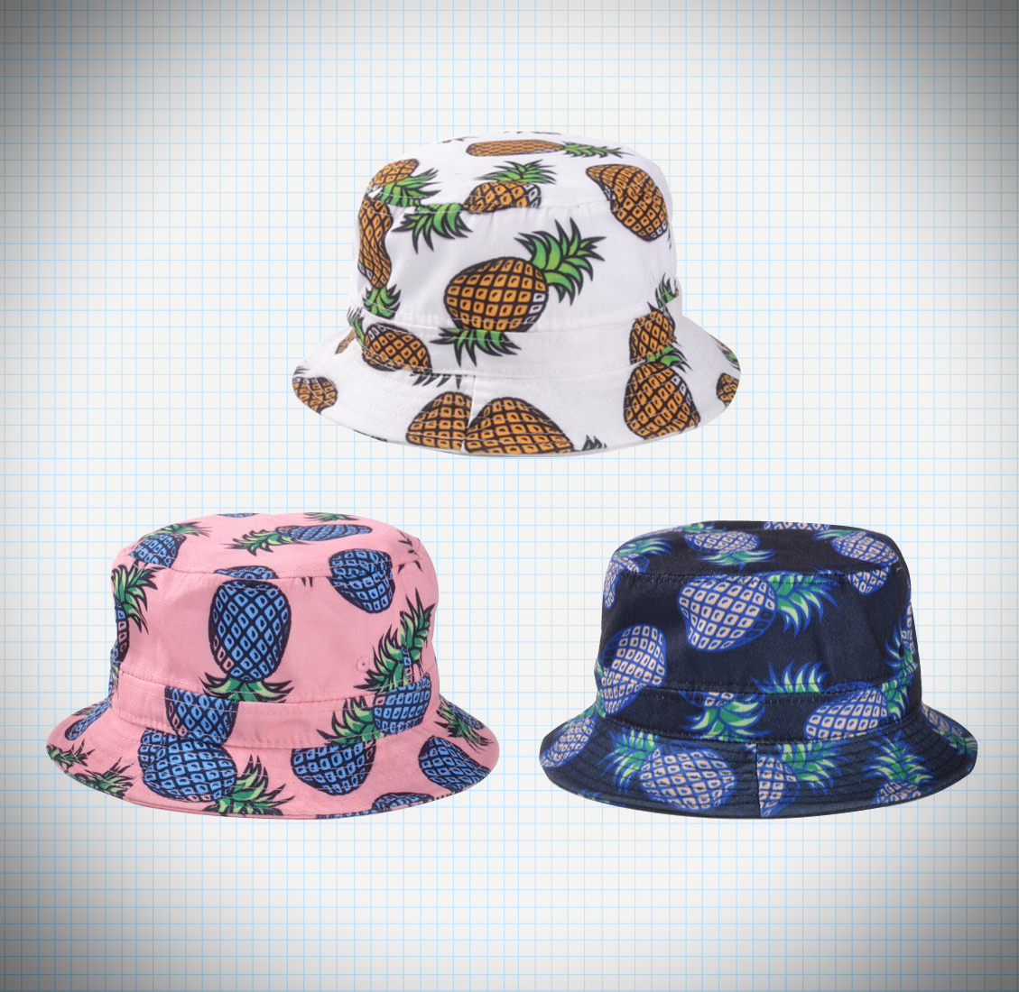 c8aa44cb4375fd Pineapple Bucket hat on Storenvy