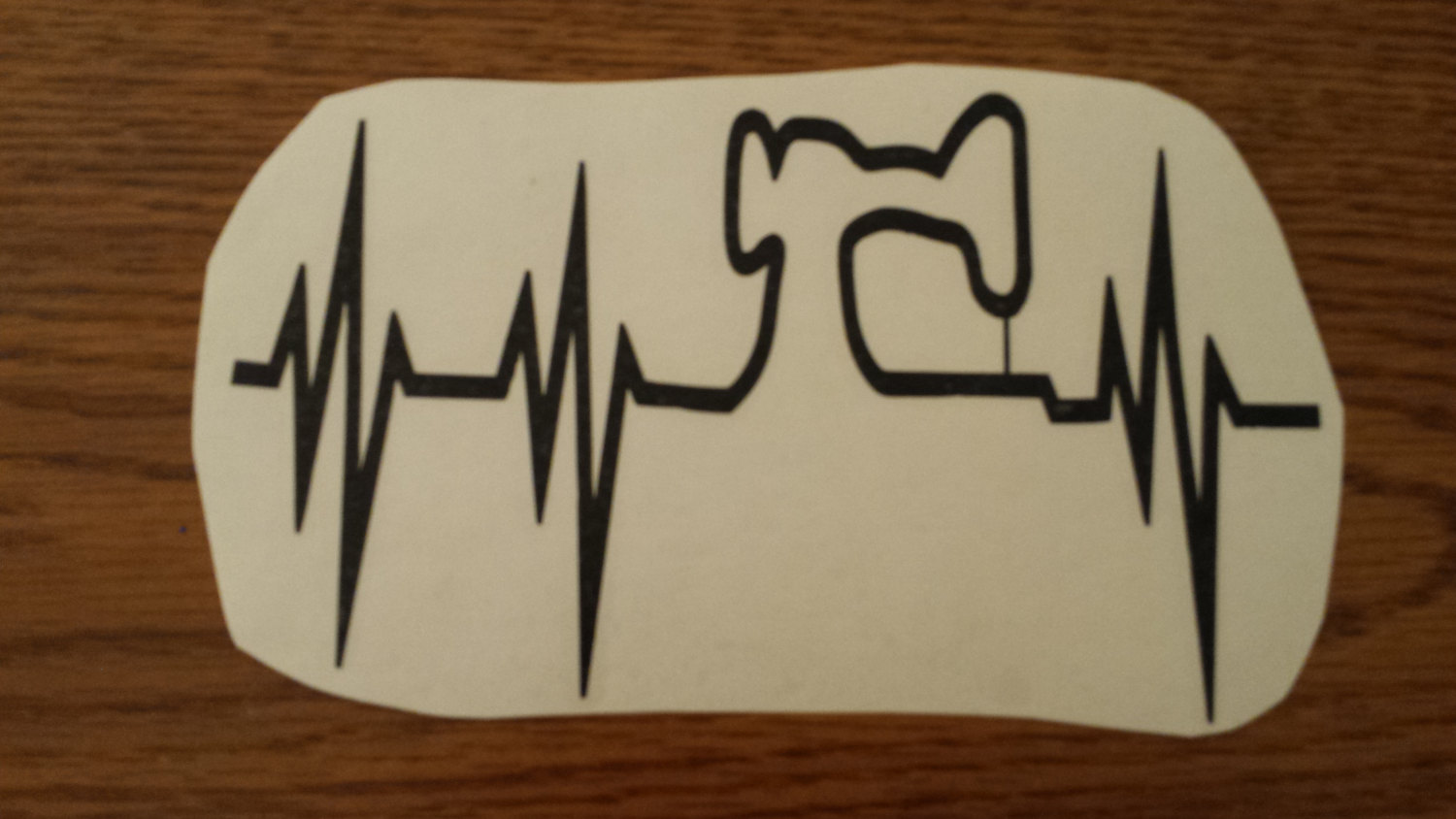 Sewing Embroidery Machine EKG Hearbeat Vinyl Decal 8x5 from Rowanmayfairs  Designs
