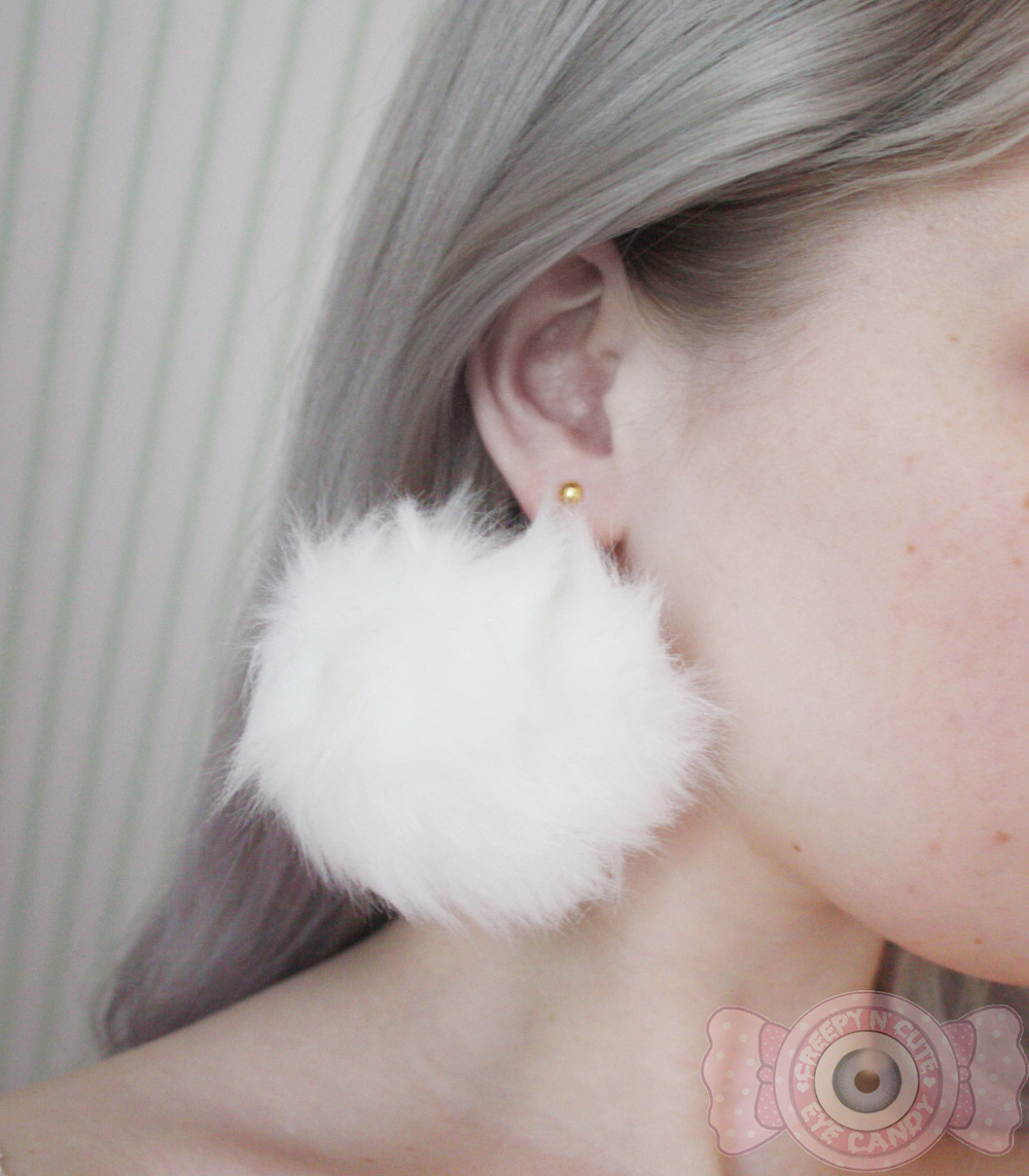 884d879b2134c2 Large pompom earrings · Eyecandy · Online Store Powered by Storenvy