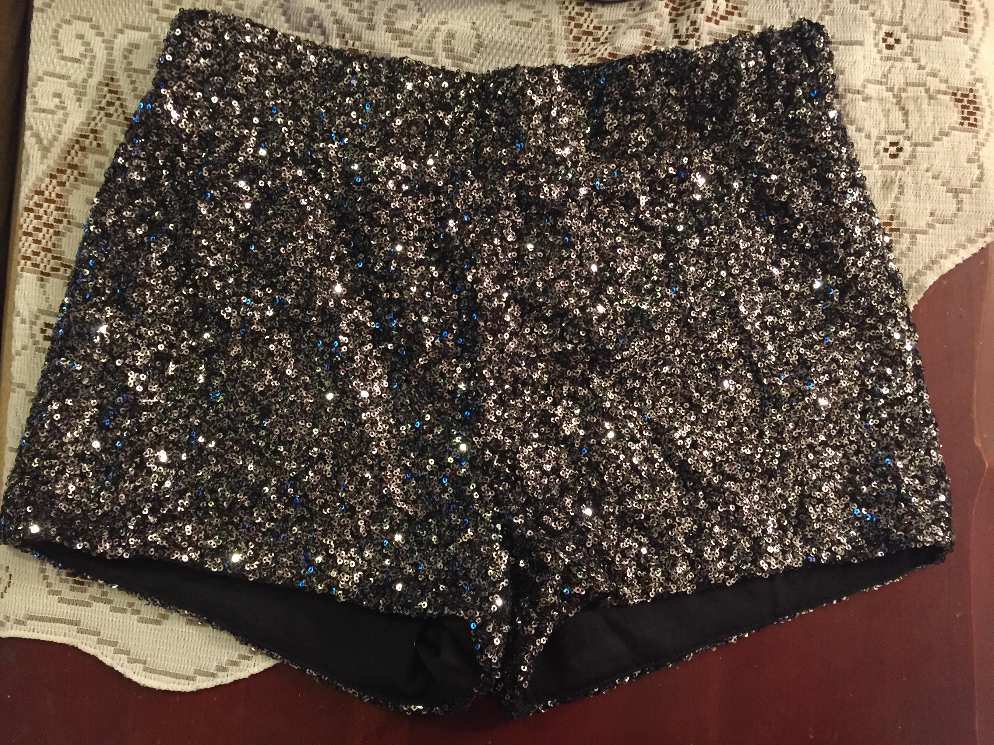 e0ba96d5 NEW sparkly high waisted shorts on Storenvy